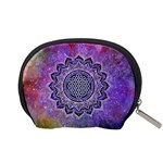 Flower Of Life Indian Ornaments Mandala Universe Accessory Pouches (Small)  Back