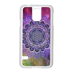 Flower Of Life Indian Ornaments Mandala Universe Samsung Galaxy S5 Case (white) by EDDArt