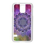 Flower Of Life Indian Ornaments Mandala Universe Samsung Galaxy S5 Case (White) Front