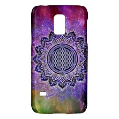 Flower Of Life Indian Ornaments Mandala Universe Galaxy S5 Mini by EDDArt