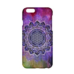 Flower Of Life Indian Ornaments Mandala Universe Apple Iphone 6/6s Hardshell Case by EDDArt