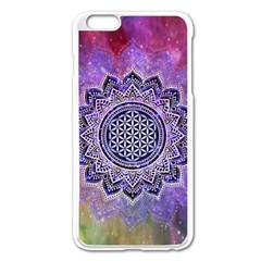 Flower Of Life Indian Ornaments Mandala Universe Apple Iphone 6 Plus/6s Plus Enamel White Case