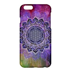Flower Of Life Indian Ornaments Mandala Universe Apple Iphone 6 Plus/6s Plus Hardshell Case by EDDArt