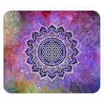 Flower Of Life Indian Ornaments Mandala Universe Double Sided Flano Blanket (Small)  50 x40 Blanket Front