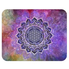 Flower Of Life Indian Ornaments Mandala Universe Double Sided Flano Blanket (medium)