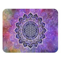 Flower Of Life Indian Ornaments Mandala Universe Double Sided Flano Blanket (large)  by EDDArt