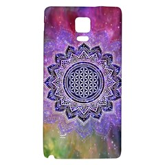 Flower Of Life Indian Ornaments Mandala Universe Galaxy Note 4 Back Case by EDDArt