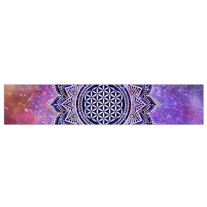 Flower Of Life Indian Ornaments Mandala Universe Flano Scarf (Small)