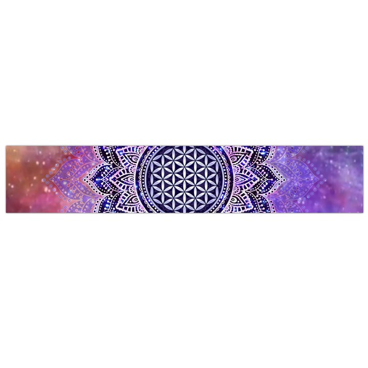 Flower Of Life Indian Ornaments Mandala Universe Flano Scarf (Large)