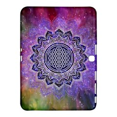 Flower Of Life Indian Ornaments Mandala Universe Samsung Galaxy Tab 4 (10 1 ) Hardshell Case