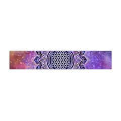 Flower Of Life Indian Ornaments Mandala Universe Flano Scarf (mini) by EDDArt