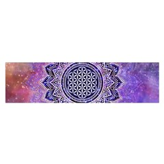 Flower Of Life Indian Ornaments Mandala Universe Satin Scarf (oblong) by EDDArt