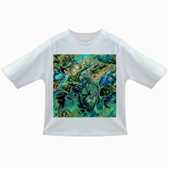 Fractal Batik Art Teal Turquoise Salmon Infant/toddler T Shirts by EDDArt