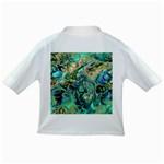 Fractal Batik Art Teal Turquoise Salmon Infant/Toddler T-Shirts Back
