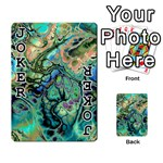 Fractal Batik Art Teal Turquoise Salmon Playing Cards 54 Designs  Front - Joker1