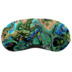 Fractal Batik Art Teal Turquoise Salmon Sleeping Masks