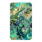 Fractal Batik Art Teal Turquoise Salmon Memory Card Reader