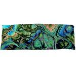 Fractal Batik Art Teal Turquoise Salmon Body Pillow Case Dakimakura (Two Sides)
