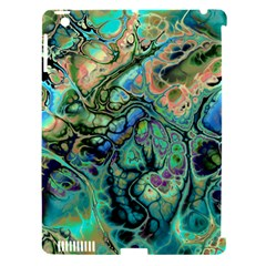 Fractal Batik Art Teal Turquoise Salmon Apple Ipad 3/4 Hardshell Case (compatible With Smart Cover) by EDDArt