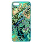 Fractal Batik Art Teal Turquoise Salmon Apple Seamless iPhone 5 Case (Color) Front