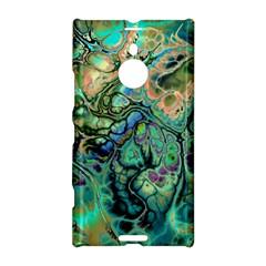 Fractal Batik Art Teal Turquoise Salmon Nokia Lumia 1520