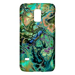 Fractal Batik Art Teal Turquoise Salmon Galaxy S5 Mini by EDDArt