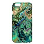 Fractal Batik Art Teal Turquoise Salmon Apple iPhone 6 Plus/6S Plus Hardshell Case