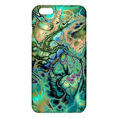 Fractal Batik Art Teal Turquoise Salmon Iphone 6 Plus/6s Plus Tpu Case by EDDArt