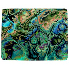 Fractal Batik Art Teal Turquoise Salmon Jigsaw Puzzle Photo Stand (rectangular) by EDDArt