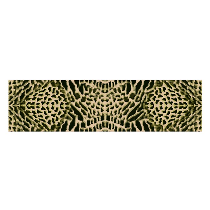 BROWN REPTILE Satin Scarf (Oblong)