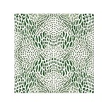 GREEN SNAKE TEXTURE Small Satin Scarf (Square) Front