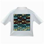 Block On Block, Aqua Infant/Toddler T-Shirts Back