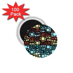 Block On Block, Aqua 1 75  Magnets (100 Pack)  by MoreColorsinLife