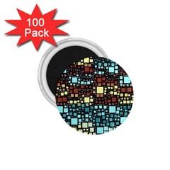 Block On Block, Aqua 1.75  Magnets (100 pack)