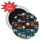 Block On Block, Aqua 2.25  Magnets (100 pack)  Front