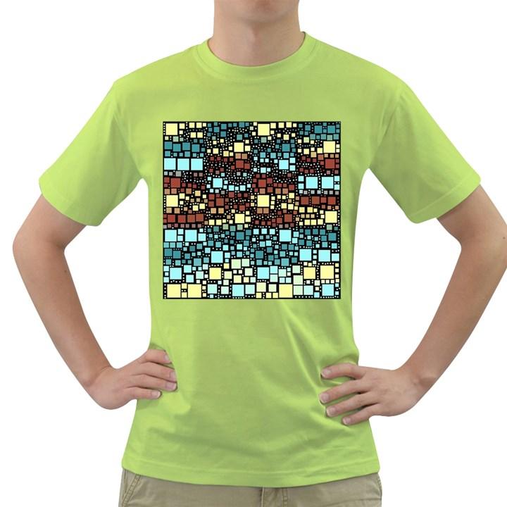 Block On Block, Aqua Green T-Shirt