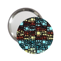 Block On Block, Aqua 2 25  Handbag Mirrors by MoreColorsinLife