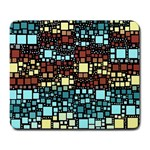 Block On Block, Aqua Large Mousepads Front