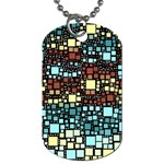 Block On Block, Aqua Dog Tag (Two Sides) Front