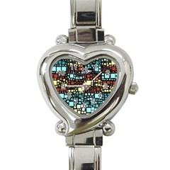 Block On Block, Aqua Heart Italian Charm Watch