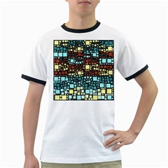 Block On Block, Aqua Ringer T Shirts