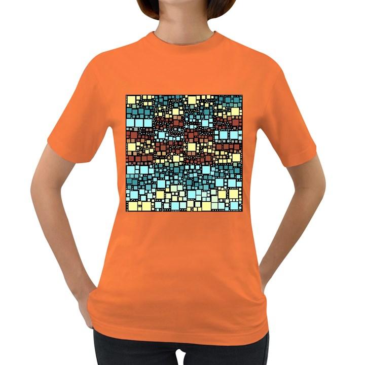 Block On Block, Aqua Women s Dark T-Shirt
