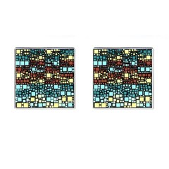 Block On Block, Aqua Cufflinks (square) by MoreColorsinLife