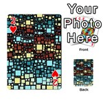Block On Block, Aqua Playing Cards 54 Designs  Front - Heart2