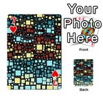 Block On Block, Aqua Playing Cards 54 Designs  Front - Heart7