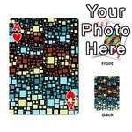 Block On Block, Aqua Playing Cards 54 Designs  Front - HeartA