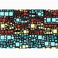 Block On Block, Aqua Collage Prints by MoreColorsinLife