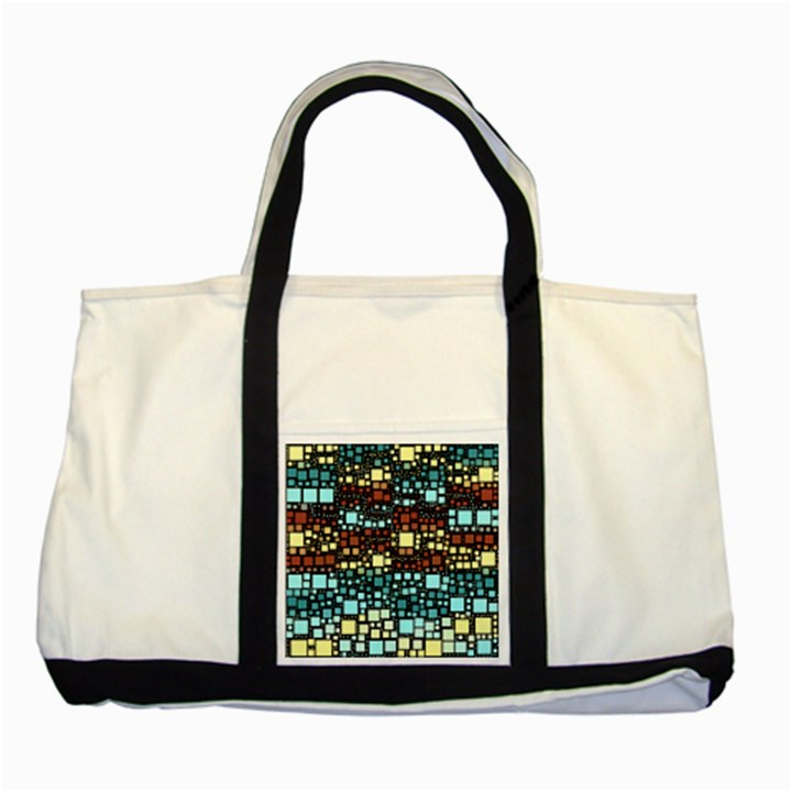Block On Block, Aqua Two Tone Tote Bag