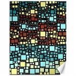 Block On Block, Aqua Canvas 12  x 16   16 x12 Canvas - 1