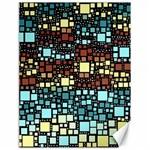 Block On Block, Aqua Canvas 18  x 24   24 x18 Canvas - 1